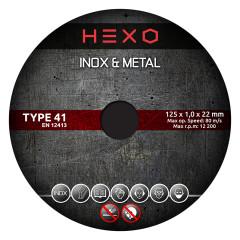 TARCZA KORUNDOWA 125X1 MM HEXO TYPE 41 METAL