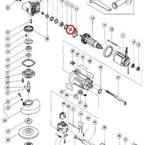 Podkładka uszczelka filcowa do Szlifierki Tarczowej HITACHI G12SA2 i G13SB2 [994-320]