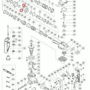 Stalowe kulki D6.35 (10 szt.) do Młotowiertarki Hitachi H45MR [959-150]